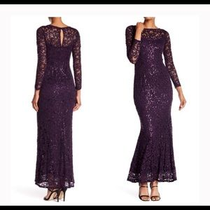NWT MARINA EGGPLANT long sleeve  dress.